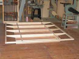 floating bed frames constructed woodwork pinterest floating