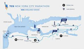 Boston Marathon Route Map by Tcs New York City Marathon Nov 05 2017 World U0027s Marathons