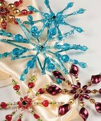 beaded snowflake ornament pink glass beaded home decor