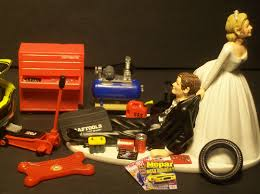 auto mechanic chevrolet corvette 1957 wedding cake topper funny