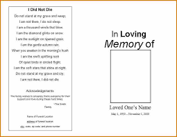 free funeral programs 6 free funeral program template for word resumes word