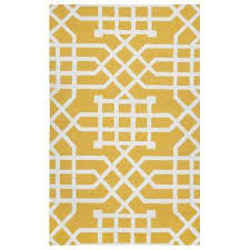 Geometric Outdoor Rug Rectangle Yellow Outdoor Rugs Rugs The Home Depot