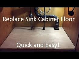 how to replace sink base cabinet how to replace rotted sink base cabinet floor bottom easy