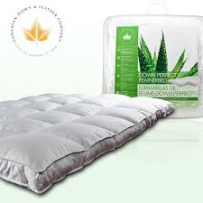 Goose Feather Bed Topper Mattress Toppers Canadian Down U0026 Feather Company