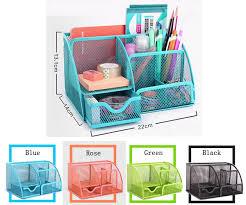 wire mesh desk organizer metal mesh desk organizer desktop pencil holder stand storage