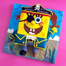 spongebob pirate party fondant cakes jb kl penang cakedeliver