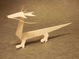 let u0027s make a dragon of kiriorigami paper craft youtube