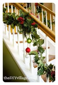 Christmas Banister Garland Ideas We Have A Thing For Trees Christmas Trees The Diy Village