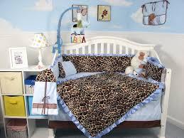 Giraffe Bedding Set Soho Soft Blue Giraffe Minky Baby Crib Nursery