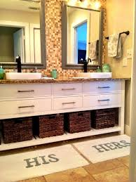 Best 25 Pottery Barn Bathroom His Hers Bath Mats Pottery Barn Intended For Elegant His And Hers