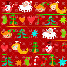 wrapping paper christmas christmas wrapping paper with symbols vector clipart image
