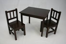 Amazon Garden Table And Chairs Amazon Com Ehemco Kids Table And 2 Chairs Set Solid Hard Wood