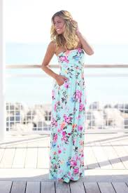 strapless floral maxi dress with pockets floral maxi dress