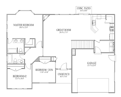 flooring open layout floor plans one story house plansopen 39