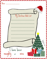 my wish list printable my christmas wish list for santa