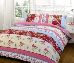 vintage patchwork duvet cover floral poly cotton bedding bed sets