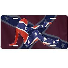 Confderate Flag Confederate Flag Car Tag License Plate Rebel Flag