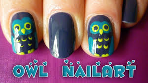 easy owl nail art tutorial for fall autumn or halloween youtube