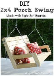 diy 2x4 porch swing sweet pea