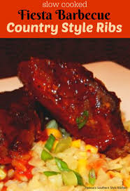 slow cooked fiesta barbecue country style ribs recipe style