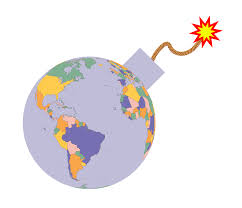Earth Globe Map World by Clipart Political Map Earth Globe Bomb