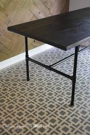 Steel Pipe Desk Diy Pipe Table Tutorial How We Saved 1 800 Designer Trapped
