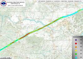 Map Of Franklin Tennessee by Ef5 Tornado Track Franklin Al To Franklin Tn