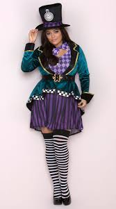 plus size costumes for women size delightful hatter costume plus size mad tea party costume