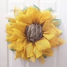 sunflower mesh wreath diy summer wreaths
