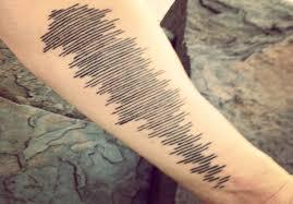 memorial tattoo designs sound waves fineline tattoo