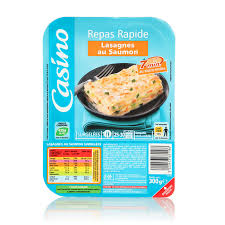 conservation plat cuisiné lasagnes au saumon 300g magasin vival 43 route de crest 26740 sauzet
