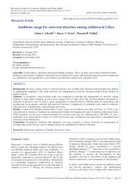 med si e social antibiotic usage for rotaviral diarrhea pdf available