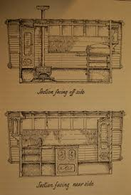 layout plans for a bow top gypsy wagon google search caravans