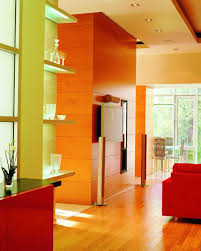 Brown Red And Orange Home Decor Interior Shocking Decorating Ideas Using Rounded Red Barstools