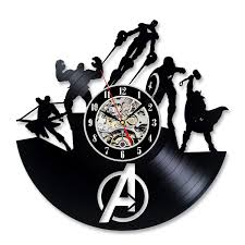 cool wall clock cool vinyl record wall clock christmas gift for avengers fans