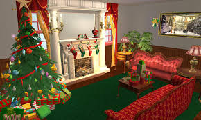 mod the sims hallelujah square little christmas village no cc