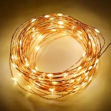 led fairy string lights 100 warm white led waterproof copper wire micro fairy string lights