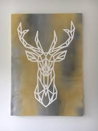 Fabric Color Spray Paint Diy Canvas Art I Used Tape And Spray Paint To Make The Deer The