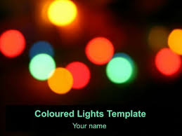 coloured templates free coloured lights template