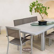 Marque De Mobilier Collection Dripper Table Extensible Aluminium Avec Lattes Hpl