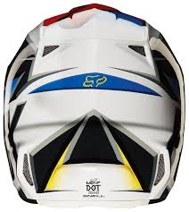 fox helmet motocross fox racing v2 race helmet cycle gear