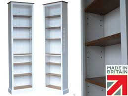 Narrow White Bookcase by 100 Solid Wood Bookcase 7ft Tall Narrow White Painted U0026 Waxed