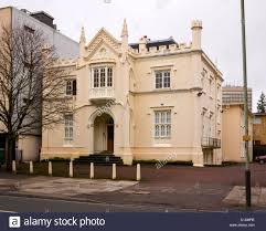 Gothic Revival Home by Oriel Lodge The Earliest Gothic Revival House In Cheltenham Stock