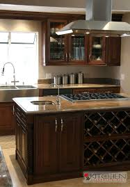 kitchen island with wine storage this cabinet is of custom details there is an island with a