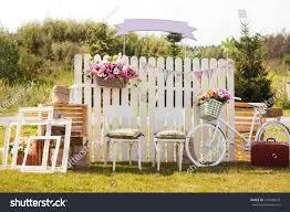 wedding photo zone decor wedding style stock photo 247608619