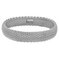 bracelet mesh silver sterling images Estate tiffany co silver mesh quot somerset quot bracelet betteridge jpg