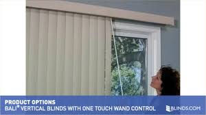 Short Vertical Blinds Bali Vertical Blind With One Touch Wand Control U0026raquo Vertical