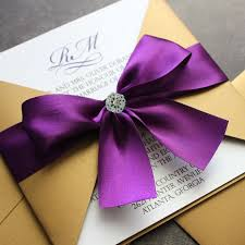 purple wedding invitations purple and gold wedding invitations cloveranddot