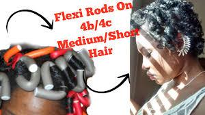 flexi rod stretch long 4b c hair how to do flexi rods on 4b 4c short medium natural hair youtube