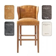 bar stools leather backless bar stools with nailheads backless